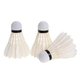 formation-de-badminton-en-plume-blanche-3pcs